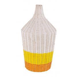 Veioza rattan alb galben portocaliu sun Ø 28 cm x 47.5 h