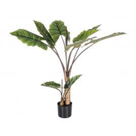 Cala artificiala verde 10 frunze in ghiveci 134 h