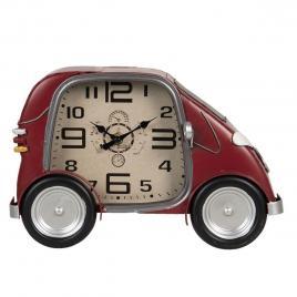 Ceas de perete din metal visiniu model masina
