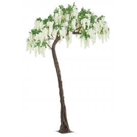 Copac decorativ cu flori artificiale albe wisteria 200 cm x 320 h