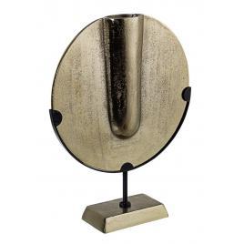 Decoratiune de masa aluminium auriu antic milennio 31 cm x 9 cm x 39 h