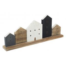 Decoratiune de masa din lemn housing 55 cm x 7 cm x 21 h
