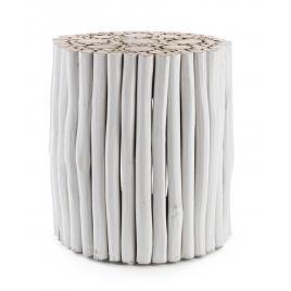 Masuta cafea lemn alb guadalupe 38 cm x 38 cm x 40 h
