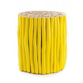 Masuta cafea lemn galben guadalupe 38 cm x 38 cm x 40 h