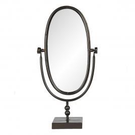 Oglinda de masa cu rama din metal negru