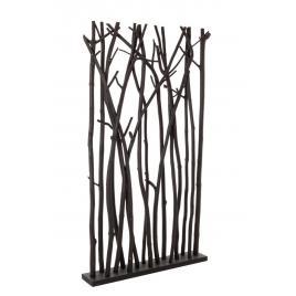 Paravan decorativ lemn negru aili 100 cm x 18.5 cm x 180 h