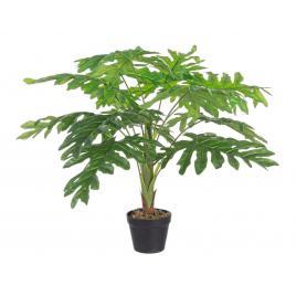 Planta artificiala philodendron in ghiveci cu 12 frunze 90 h