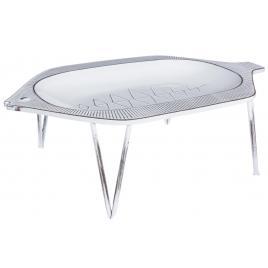 Platou metal alb patinat fisher 50.5 cm x 33 cm x 15.5 h