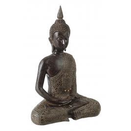 Statueta polirasina neagra buddha 23 cm x 13 cm x 34 h