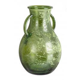 Vaza sticla verde amphora Ø 20 cm x 32 h