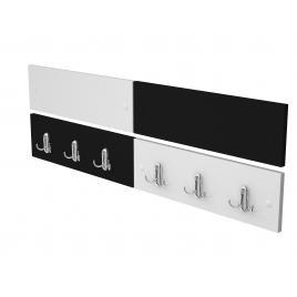 Cuier de perete alb-negru, 100 cm