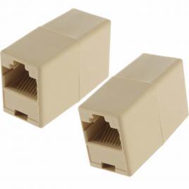 Adaptor / Mufa de prelungire cablu retea UTP / FTP / RJ45, Active, mama-mama, prelungitor cablu internet, mufa trecere