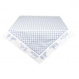 Fata de masa din bumbac carouri albastru alb 100 cm x 100 cm