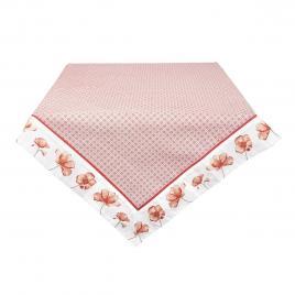 Fata de masa din bumbac carouri rosu alb 100 cm x 100 cm