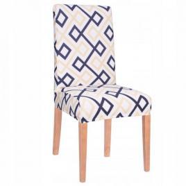 Husa scaun dining/bucatarie, din spandex, model modern romb