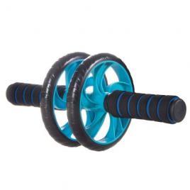 Rola abdominala dubla springos,  pentru exercitii fitness, negru/albastru
