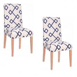 Set husa scaun dining/bucatarie, din spandex, model modern romb, 2 buc/set