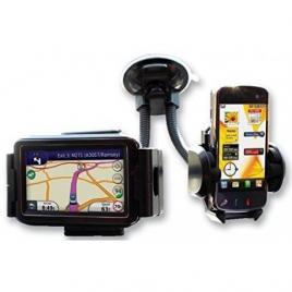 Suport auto pentru telefon dublu pentru telefon si gps sau tableta