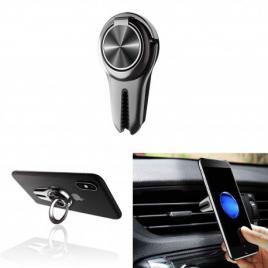 Suport telefon cu inel, multifunctional cu clema pt grila ventilatie