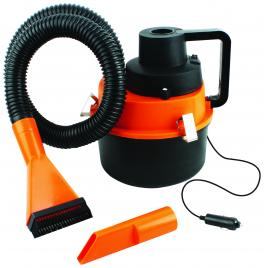 Aspirator auto Eltron Turbo 160W, 3L, fara sac, umed/uscat, portocaliu