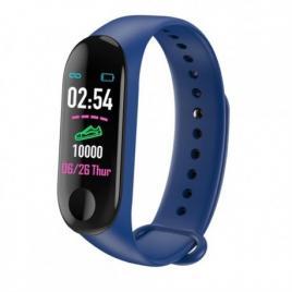 Bratara inteligenta fitness aipker m4 tensiune arteriala ,termometru,albastru...