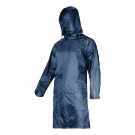 Pelerina ploaie cu nasturi si fermoar / albastru - 3xl