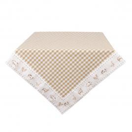 Fata de masa din bumbac crem alb 100 cm x 100 cm