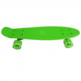 Penny Board cu roti luminoase LED, 55 cm, Verde