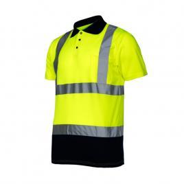 Tricou reflectorizant polo / verde - xl