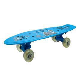 Penny Board portabil 42cm, roti silicon, albastru