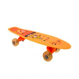 Penny Board portabil 42cm, roti silicon, portocaliu