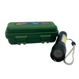 Mini lanterna led cu 3 trepte iluminare si usb, isp21, negru
