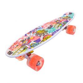 Penny board portabil cu roti luminoase, yammy, multicolor, 56 cm, Olimp