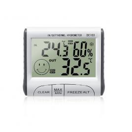 Termometrul digital pentru masurarea temperaturii interior/exterior, Olimp