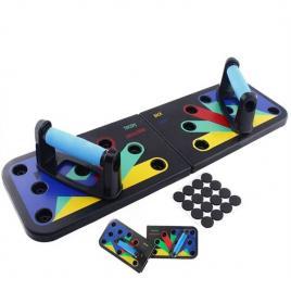Placa pentru flotari multifunctionala pe baza de culori,cu manere push up board