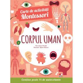 Carte de activitati Montessori. Corpul uman
