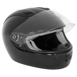 Casca moto negru l cu sistem de ventilatie , termoplastic abs kft auto