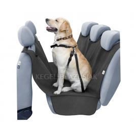 Husa auto protectie caini si pisici husa protectie bancheta alex cu orificiu pentru centura de siguranta a animalului kft auto