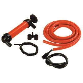 Pompa transfer lichide carpoint si pompa aer , cu 2 furtunuri de 130 cm.  si furtun cu cap umflat aer kft auto