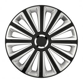 Capace roata 16 inch versaco trend rc, argintiu si negru kft auto