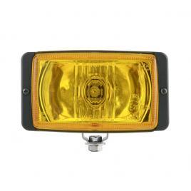 Set proiectoare auto halogen de drum carcasa neagra geam galben 12/24v 138x78x60mm  set 2 buc kft auto