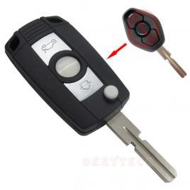Carcasa cheie auto briceag cu 3 butoane bw-127 pentru transformat, compatibil bmw allcars