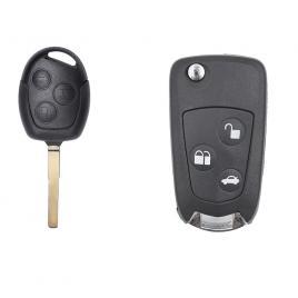 Carcasa cheie auto briceag cu 3 butoane fo-141 pentru transformare, compatibil ford allcars