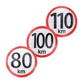 Autocolant reflectorizant limita viteza 40 km, diametru 150mm kft auto