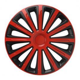 Capace roata 16 inch versaco trend, rosu si negru kft auto
