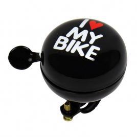 Claxon bicicleta i love my bike negru 80mm , sonerie bicicleta kft auto