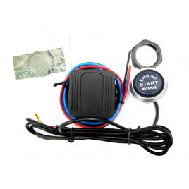 Kit buton pornire motor es02 cu lumina albastra maniacars