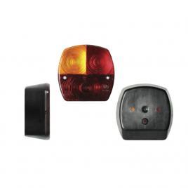 Lampa auto bestautovest pentru remorca partea stanga 12/24v 115x115x50mm fara lampa numar , 1 buc. kft auto