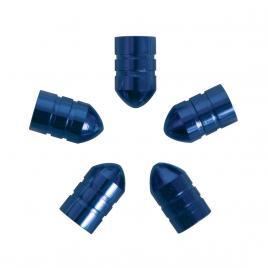 Set capacele auto carpoint pentru ventil tip glont culoare albastru , 5 buc. kft auto