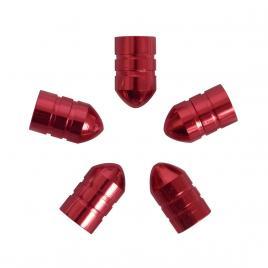 Set capacele auto carpoint pentru ventil tip glont culoare rosu , 5 buc. kft auto